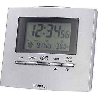 Techno Line WT250 Radio Wecker Silber Alarm Zeiten 1