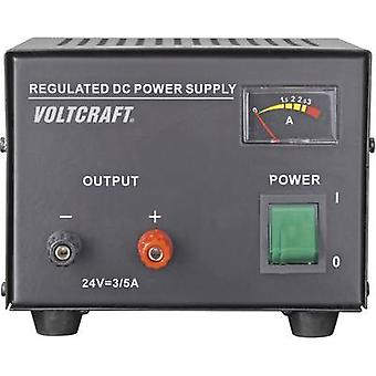 VOLTCRAFT FSP-1243 Bench PSU (fixed voltage) 24 V DC (max.) 3 A (max.) 72 W No. of outputs 1 x