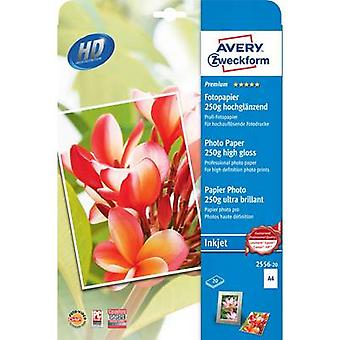 Avery-Zweckform Premium Photo Paper Inkjet 2556-20 Photo paper A4 20 sheet High-lustre