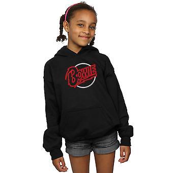 Дэвид Боуи девочек неоновый логотип капюшоном