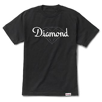 Champagne diamant Supply Co. Cut T-shirt noir