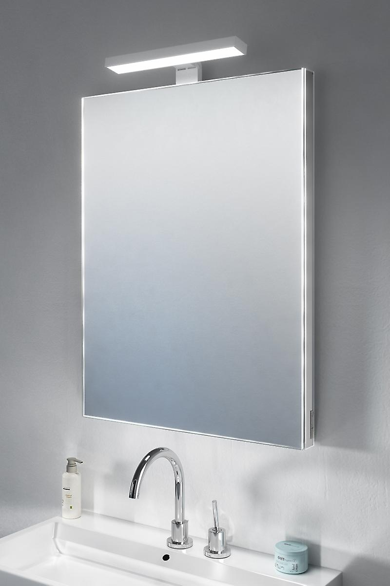 Crown Top Light Mirror with sensor & shaver socket k483