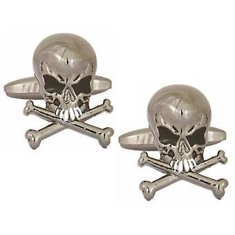Zennor Skull Cufflinks - Silver