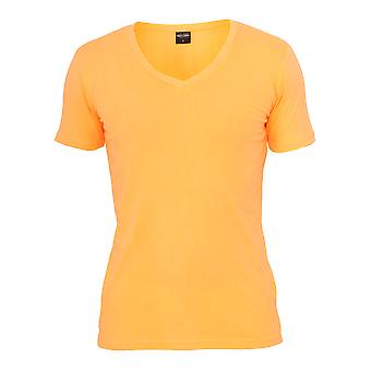 Urban Classics Men's T-Shirt Neon V-Neck