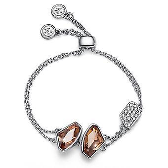 Oliver Weber Chain Bracelet Galactic Rhodium Golden Shadow