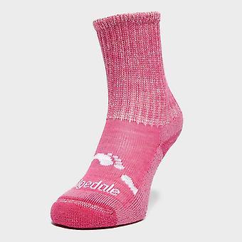 New Bridgedale Girl ' s WoolFusion® Trekker meias-de-rosa
