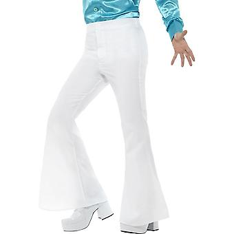 Rozszerzane spodnie, męskie, biały