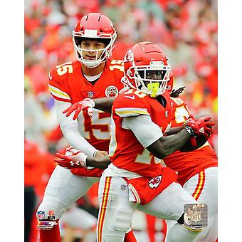 Patrick Mahomes & Tyreek Hill 2018 Action Photo Print