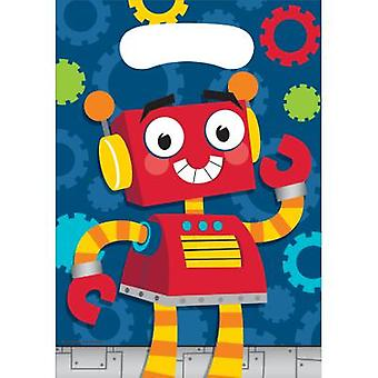 Robot party bags gift bags 8 piece children birthday theme party party birthday