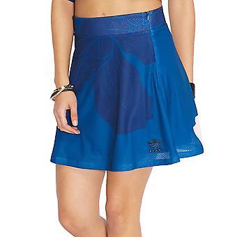 Adidas Originals Womens Trefoil Floral gravure a-line coupe mode Mesh Skirt