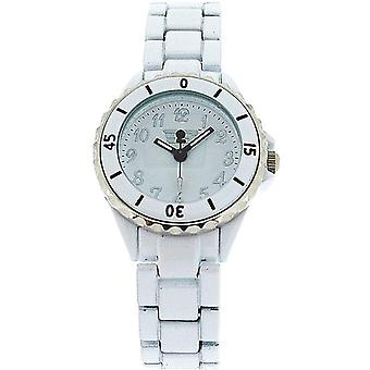 Golddigga Unisex White Analogue Metal Rotating Bezel Bracelet Strap Watch DIG05B