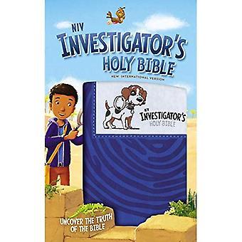 Sainte Bible NIV de l'enquêteur, simili cuir, bleu: découvrir la vérité de la Bible