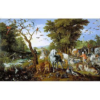 The Animals entering the Ark,Jan Brueghel The Elder,60x38cm