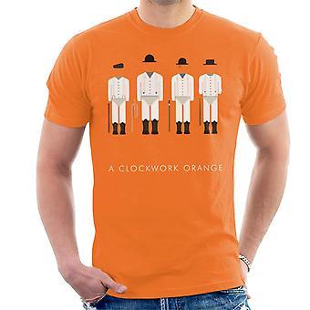 A Clockwork Orange Droog Outfit Movie Silhouette Men's T-Shirt