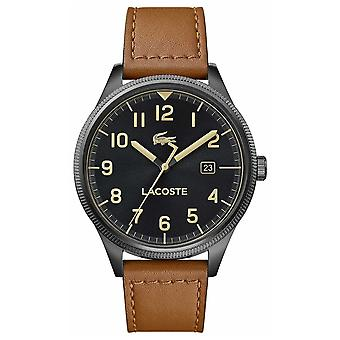 Lacoste | Mens Continental | Brown Leather Strap | Black Dial | 2011021 Watch