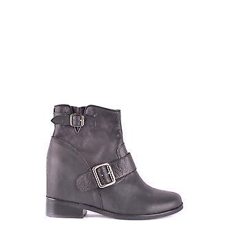 Jeffrey Campbell Ezbc132030 Dames's Black Leather Enkellaarzen