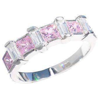 محفورة مع & أقتبس أحبك مع رمز القلب & اقتباس ؛ -- آه! مجوهرات الورد الفضي وخاتم الحجر الواضح