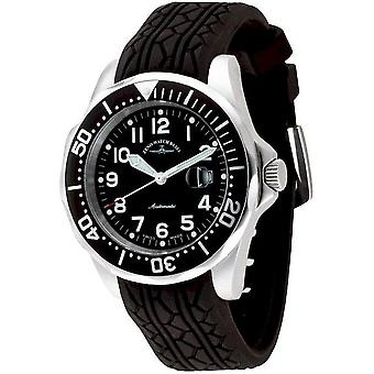 Zeno-watch mens watch diver look II automatic 3862-a1