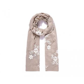 Intrigue Womens/Ladies Floral Embroidered Long Scarf