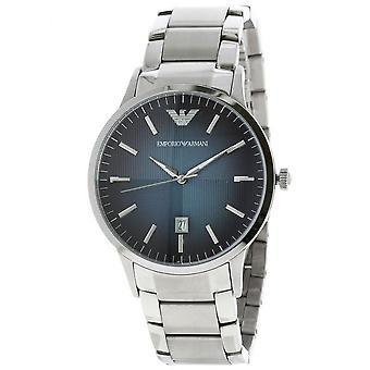 エンポリオ アルマーニ Ar2472 クラシック ブルー テクスチャー ダイヤル メン&アポス 腕時計