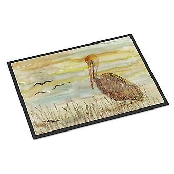 Brown Pelican giallo cielo indoor o outdoor mat 24x36