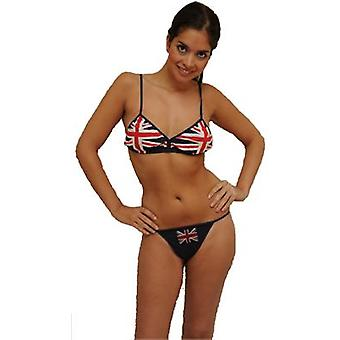 Bk101 Union Jack beha & Thong set