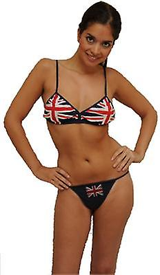 Bk101 union jack bra & thong set