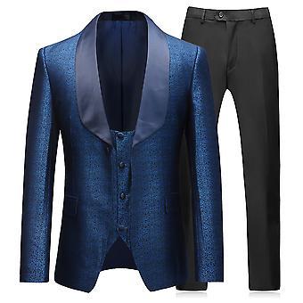 Allthemen Men's Tuxedo Suit 3-Pieces Wedding Dress Shawl Collar Blazer&Vest&Pants