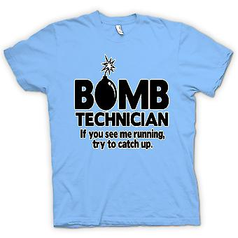 Kids T-shirt - Bomb Technician, If You See Me Running Try To Keep Up