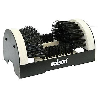 Boot & Shoe Scrubber Cleaner Brush Portable Durable Steel & Wood Black
