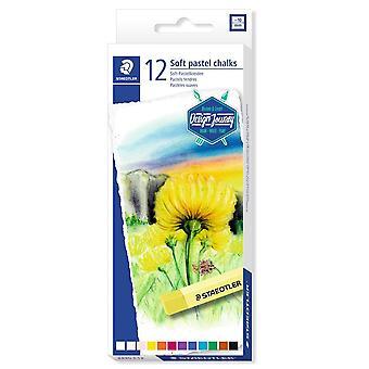 Staedtler Design Reise weiche Pastell Kreide Box von 12 verschiedene Farben