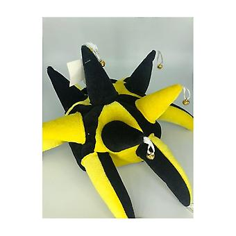 Union Jack bære svart & gule Jesters lue