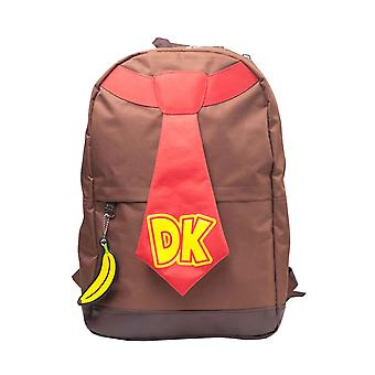 Donkey Kong Backpack Donkey Kong Tie new Official Nintendo Brown