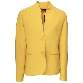Latte Yellow Fitted Boiled Wool Jacket