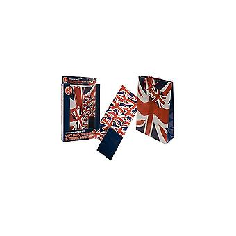 Union Jack Wear Union Jack Gift Bag Set - Bag, Wrap And Tissue Paper