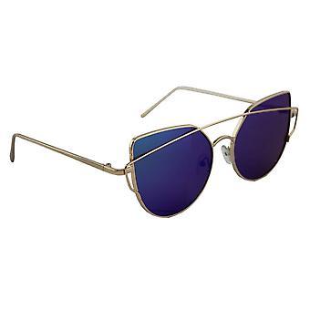 Sunglasses UV 400 Cat Eye Gold multicoloured BlauwHL149_1