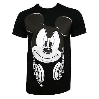 Микки Маус Мензапос;с Черный DJ Микки футболка