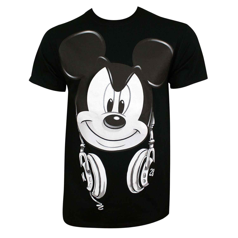 Musse Pigg män ' s svart DJ Mickey T shirt