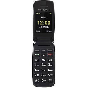 بريمو بواسطة DORO 401 زر كبير الوجه أعلى الهاتف المحمول الأسود