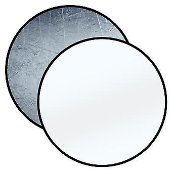 BRESSER BR-TR8 folde reflektor sølv/hvid 110cm rund
