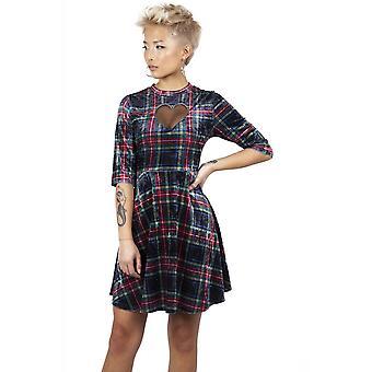 Jawbreaker Clothing No Heart Velvet Tartan Dress