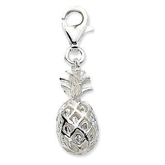 925 plata esterlina fancy langosta cierre clic en la piña pulida encanto colgante collar medidas 28x7mm joyería gif