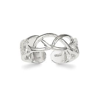 925 Sterling Sølv Solid Polert Tå Ring Smykker Gaver til kvinner - 1,4 Gram