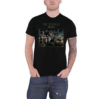 The Beatles T-skjorte Hey Jude live band logo nye offisielle menns Black