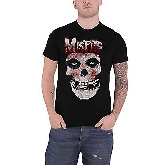 Misfits T Shirt Jurek Blood Drip Skull Band Logo new Official Mens Black