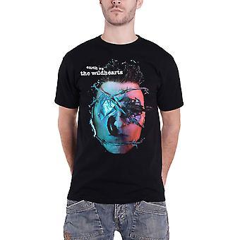 The Wildhearts T Shirt Earth Vs The Wildhearts Band Logo new Official Mens Black