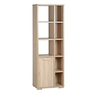 Cambourne 1 Door 5 Shelf Unit Light Sonoma Oak