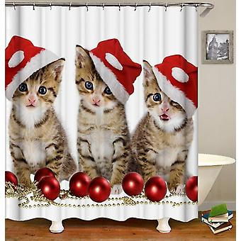 Santa's Kittens Shower Curtain