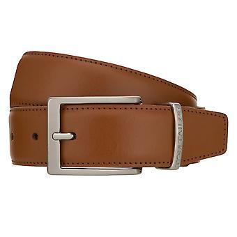 TOM TAILOR Cinturón de Cuero Cinturón Hombres Cinturón Jeans Cinturón Cognac 8385