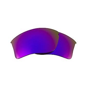 SeekOptics Replacement Lenses for Oakley FLAK JACKET XLJ Asian Fit Purple Mirror Polarized UV400